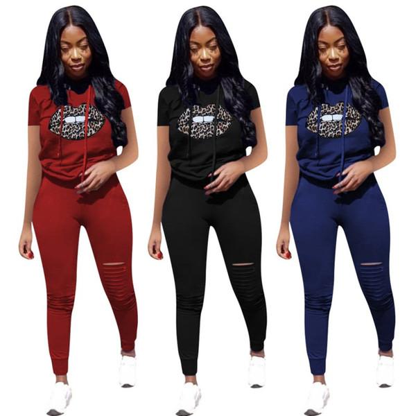 best selling Womens outfits short sleeve 2 piece set tracksuit jogging sportsuit shirt leggings outfits sweatshit pants sport suit hot klw0857
