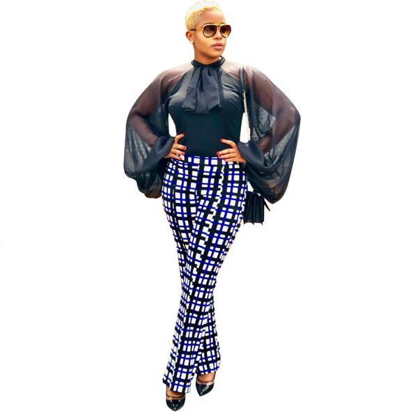 2019 Lantern Sleeve Chiffon Mesh women new o-neck long sleeve hem high blouses and shirts dress vestidos SJ3267