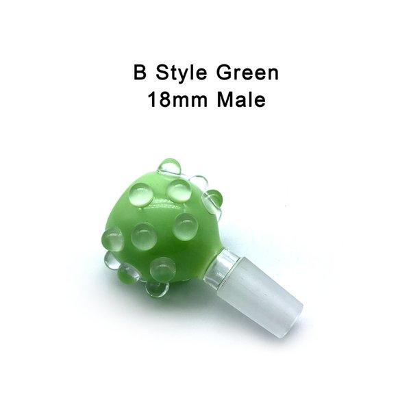 B- 18mm Male Green