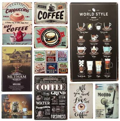 Ice Cold Drinks Decoration Coke Cola Metal Tin Signs Classic Poster Vintage Plaque Pub Bar Club Cafe Shop Home Wall Decor DHL Free 666