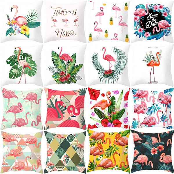 New Home Textiles Flamingo taie d'oreiller décor à la maison Taie d'oreiller canapé coussin taille taie d'oreiller canapé housse de coussin 4899