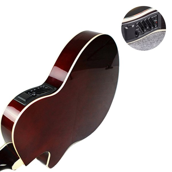 top popular Acoustic Guitar Musical Instruments 40 Inch Electric Box Wood Guitarra 6 Strings Guitar Red Light Cutaway Electro AGT28 2020