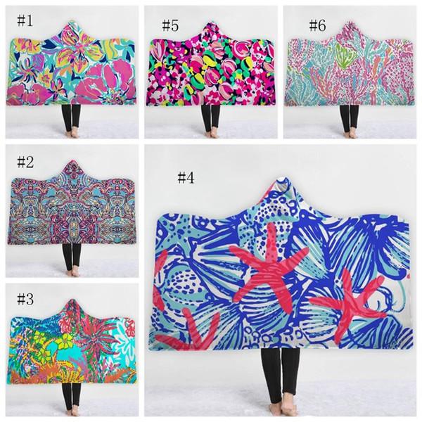 Lilly Hooded Blanket personalisierte Sherpa Fleece-Decken warme tragbare Decke Klimaanlage Decken Kids Wraps 10 Designs MMA1681