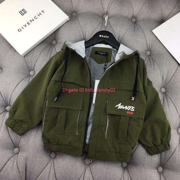 Boy jacket kids designer clothing autumn and winter hooded jacket trench coat sports casual wind coat