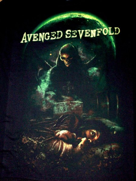 Avenged Sevenfold Mens T-Shirt Cemetery & Moon Brand New With Tags Cool Casual pride t shirt