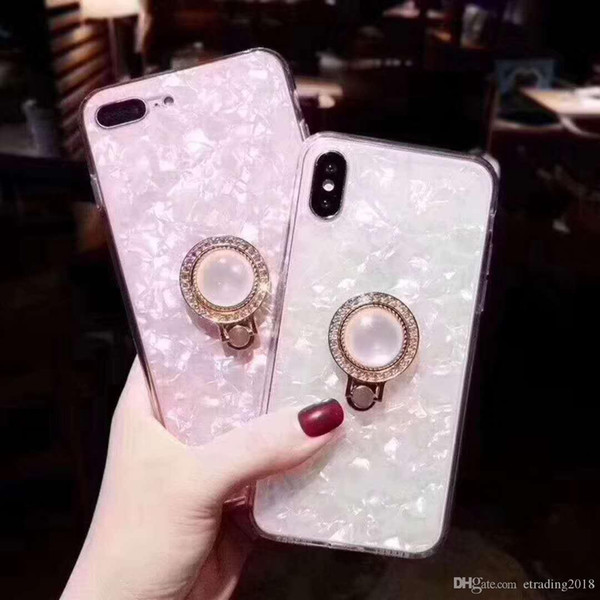 Einzigartige Ring TPU Soft Shell Back Cover Telefon Fall Coque für iPhone 6 6S 7 8 X