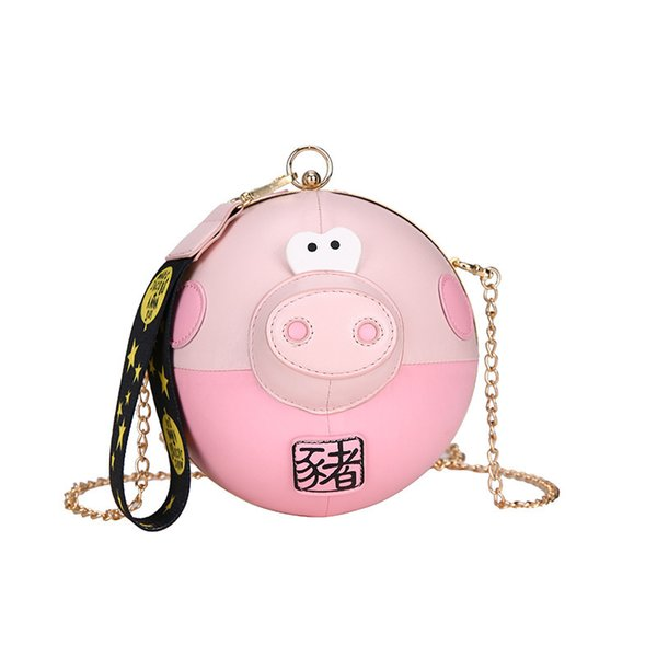 Pop2019 Fire Exceed Ins Bag Woman Joker Single Shoulder Messenger Chain Personality Girl Pig Package
