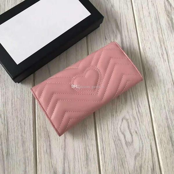 ¡Envío gratis! Diseñador de modas de embrague Diseñador de marca Carteras para mujer Cartera de cuero genuino con bolsa de polvo