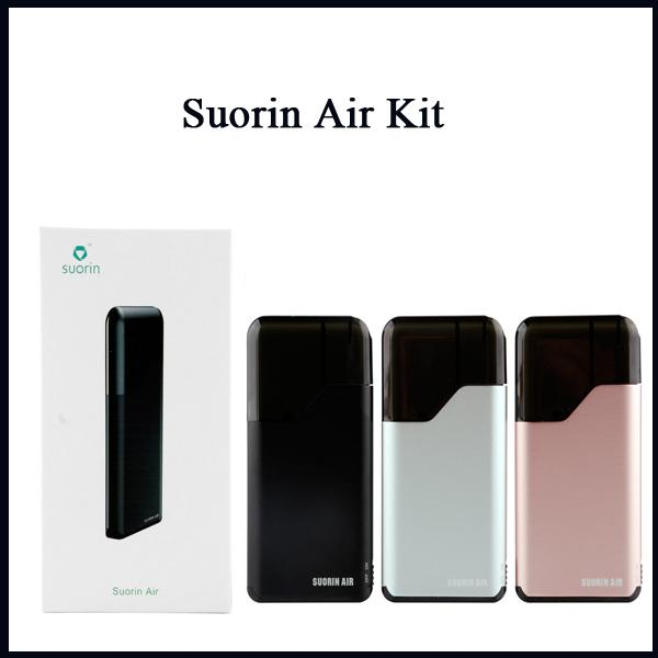 2019 Suorin Air Kit All-in-one Aio Vaping Kit con cartucho de 2 ml 400 mah Diseño de interruptor de encendido y apagado de la batería 7 colores en stock