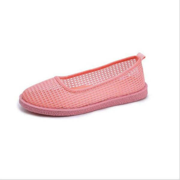 Discount Summer 2018 New Women's Shoes Flat Casual Shoes Woman Mesh Breathable Hollow Loafers Shallow Slip-on Free Shipping