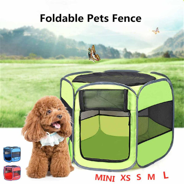 Cat Tent Playpen Puppy Kennel Portable Folding Pet Tent Dog House Cage Dog Easy Operation House Kennels Fence Outdoor Supplies