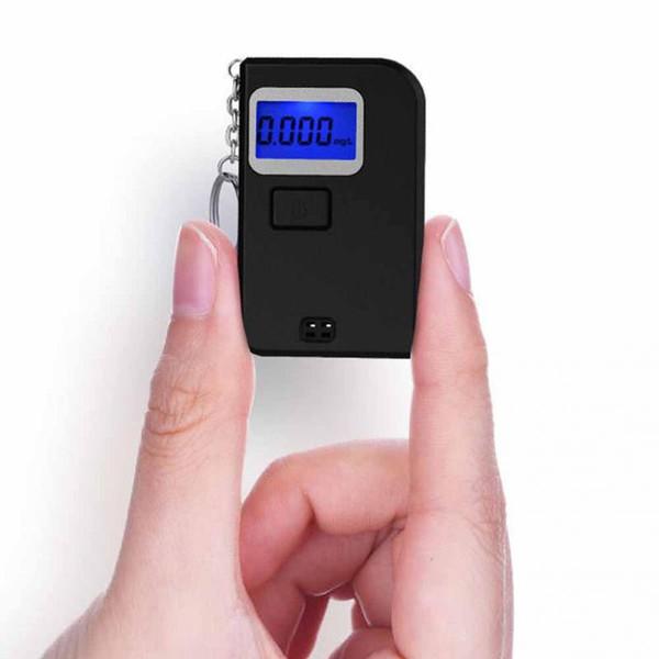 alcometer Alcotest ricordano la Sicurezza del conducente in Strumento diagnostico Carreggiata BXQQ Moda Elevata precisione Mini Alcol Tester Grigio etilometro