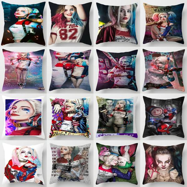 ZENGA Harley Quinn Joker Taie d'oreiller de Coussin décoratif Couverture Oreillers Sofa coussins Décoration Taie