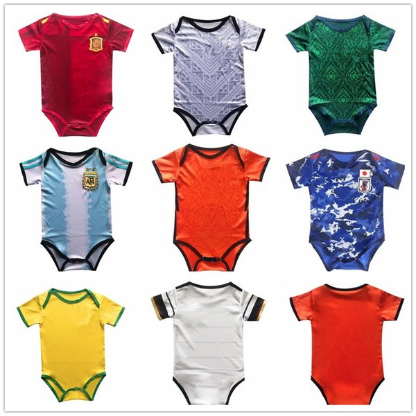 top popular Baby jersey 20 20 Spain Argentina Japan baby football jersey 6-18 months soccer shirt 2020