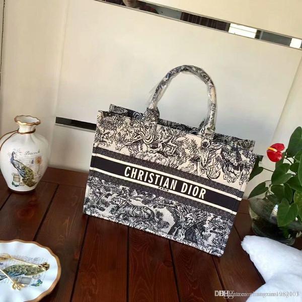 Fashion women big capacity tote bag designer womens handbags lady famous canvas 8dior bags purse ladies shoulder bag 006