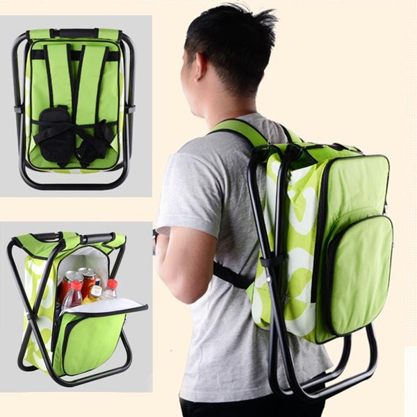 Portable Camping Folding Chair Bag Outdoor Foldable Aluminum Alloy Tube Fishing Beach Hiking Picnic Backpack Bag Stool Chair 029