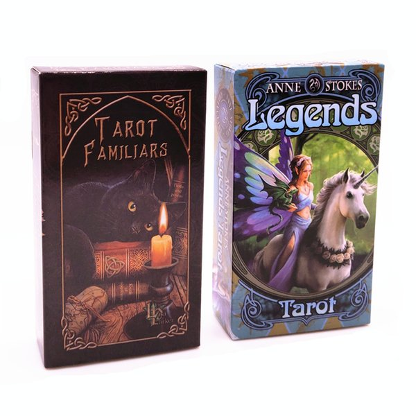 4 Styles Tarots Legends Familars Tarot Deck Board Game Playing Cards with Colorful Box Family Gift 78 Cards