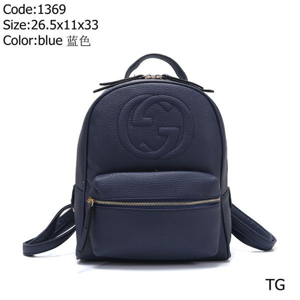 2019 hot fashion brand designer men and women Retro handbag handbag backpack top high quality Solid color couple backpack free shipping