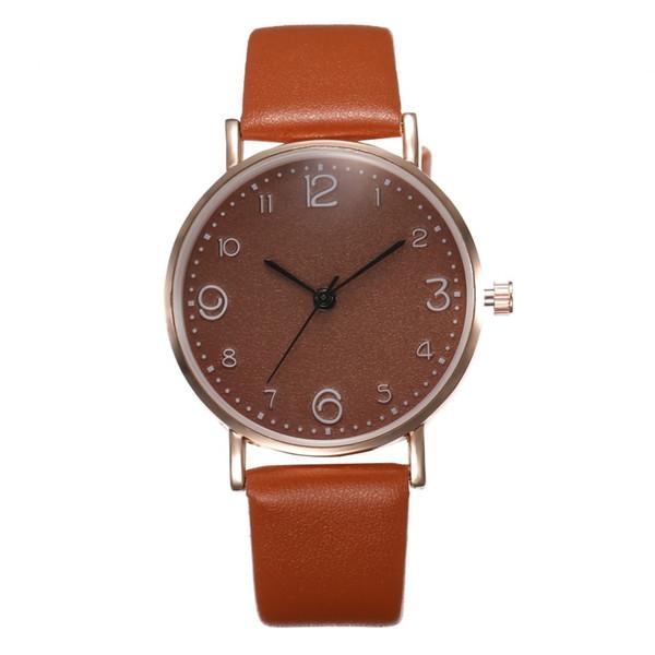 Bracelet en cuir de luxe de bande de quartz analogique de nouvelle mode de femmes de mode montre dame d'or montre les femmes s'habillent Reloj Mujer Black Clock