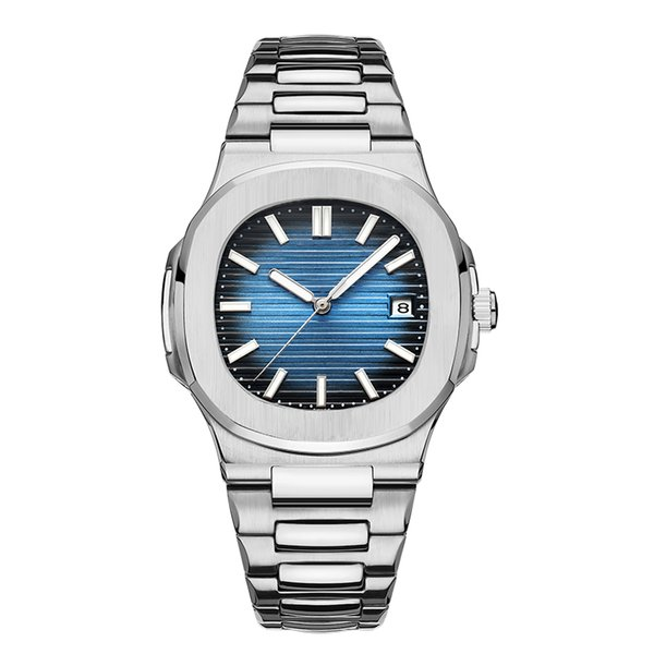 Mens Relojes mecánicos automáticos Moda Casual Oro rosa Plata Reloj Nautilus Reloj de pulsera de acero inoxidable para empresas de diseño superior Hombre reloj