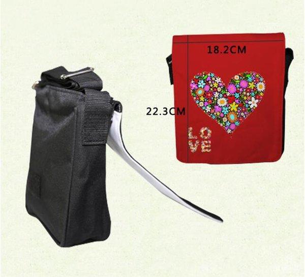 50pcs sublimação em branco DIY bag -Small Imprimir bolsa de ombro mensageiro