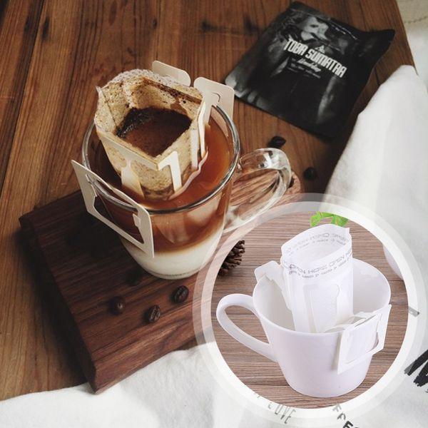 Neue 50 Teile / paket Kaffee Filterpapiertüte Tragbare Hängende Ohr Kaffee Filter Papier Einzigen Aufguss Gießen Kaffee liter beutel