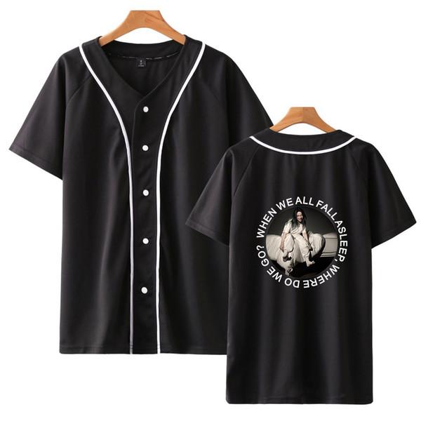 2019 Billie Eilish 3D Baskı T-shirt Erkek / Kadın Tshirt Streetwear Kısa Kollu Casual Unisex Tişörtleri Tees Dorp Nakliye Tops