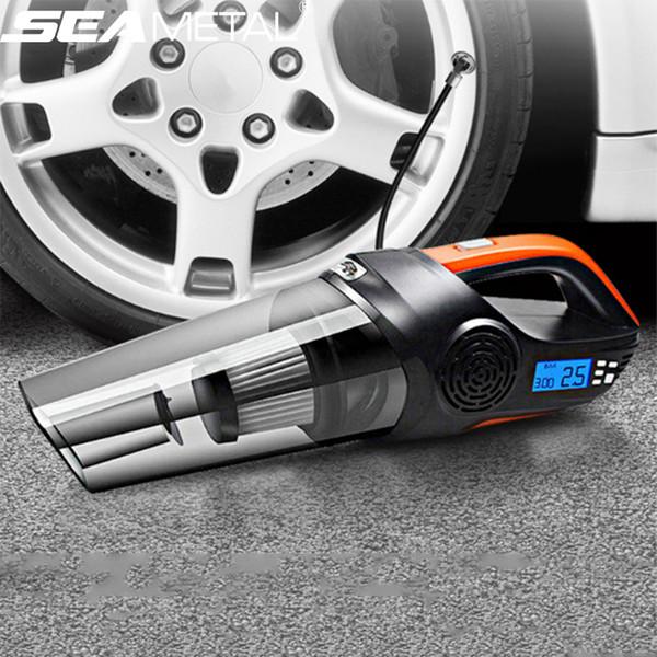 Carro Universal Vacuum Cleaner Auto Compressor de Ar 12 V Handheld Bomba Inflável Carros Compressore Pneu Inflator Vácuo Carro Portátil
