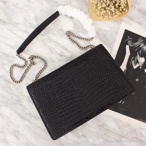 Hotsale моды для женщин цепи сумка Классические кожаные сумки на ремне сумки сумки посыльного черный красный серый цвета Бесплатная доставка