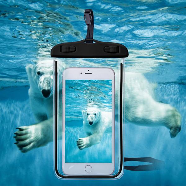 Capa universal phone case à prova d 'água para iphone 7 6 s coque pouch à prova d' água saco case para samsung galaxy s8 nadar à prova d 'água case