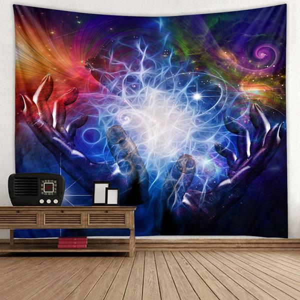 3D Psychedelic Forest Tapestry Fairy Garden Hippie Appeso a parete Coperta Livingroom Testiera Home Decoration Tenda appesa