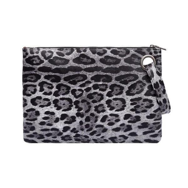 Leopard Print Clutch Bag PU Leather Hanbags Women Zipper Coin Purse Fashion Female Evening Clutch Bags Girls Envelope Bag 2018 #92899