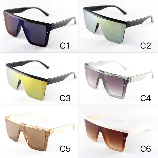 New Cool Big Sunglasses For Kids Size Square Frame Goggle Fashion Designer Children Sun Glasses Mirror Lenses 6 Colors Wholesale