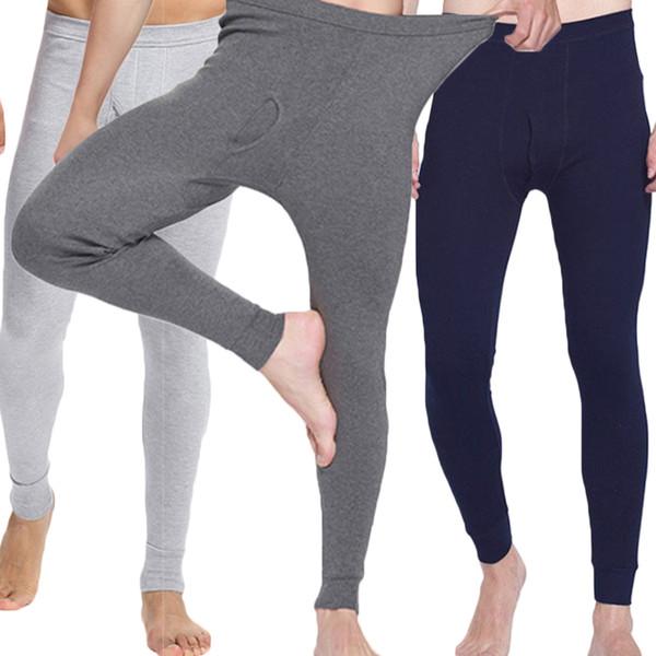 2018 winter men long johns 100% cotton thermal underwear men warm long johns underwear pants thumbnail