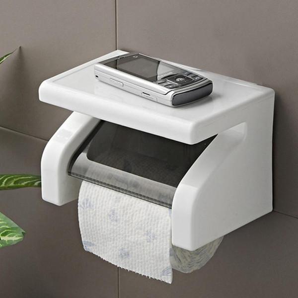 Durável À Prova D 'Água de Papel Higiênico Titular Titular Tecido de Rolo De Papel Titular Caixa de Acessórios Do Banheiro De Parede Montado