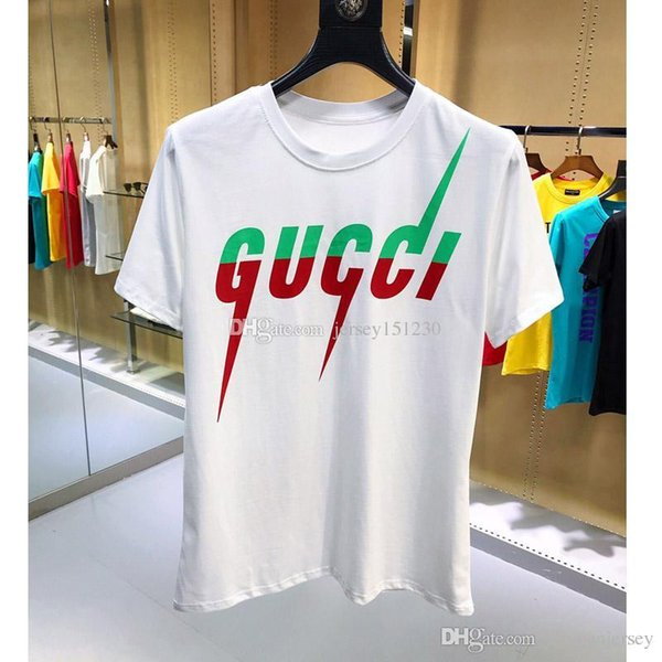 Maglietta da uomo t-shirt ultima tendenza 2019 off t-shirt bianca da uomo stampata lettera SYSTEM sul retro