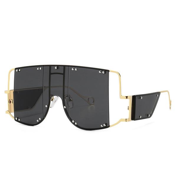 Delle donne degli uomini degli occhiali da sole Occhiali da sole oversize uomini datati occhiali da sole di lusso retrò Piazza Mens Sunglass Rihanna Occhiali da sole