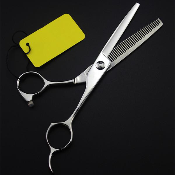professionale Giappone 440c 6 pollici denti Retro forbici taglio makas barbiere taglio di capelli diradamento forbici parrucchiere forbici