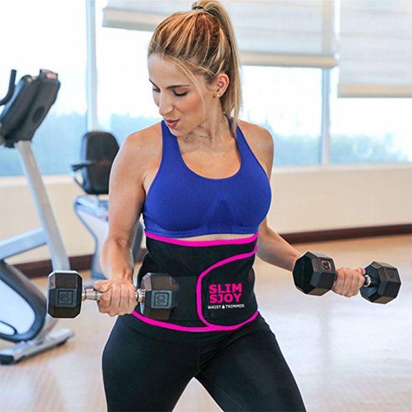 YTFAIFEN Slim Sjoy Waist Trimmer Weight loss Belly Band Sweat More Fat Burning Slim Body Shaper Sweat Wrap belt