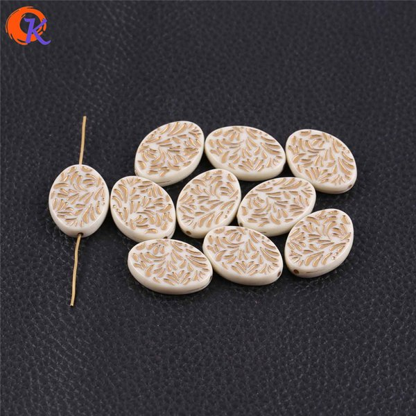 Großhandel 28x20mm 200pcs / lot (design wie gezeigt) weiße acryl oval flache antike stil perlen für handgemachte schmuck diy machen
