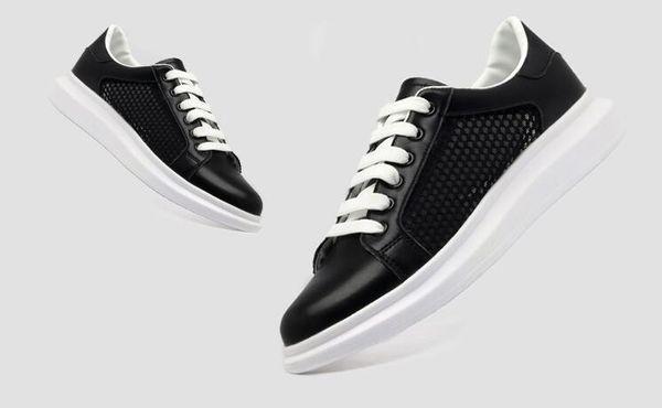 2019 erkek yaz ve sonbahar moda trendi rahat Sshoes delikler gündelik düz ayakkabılar nefes beyaz ayakkabılar