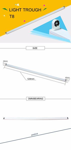 Freies Verschiffen integrierte verbindbare Befestigung T8 geführtes Rohr 1500mm mit Zusätzen 50pcs / lot