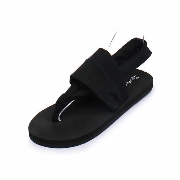 Tongs Femme Xia Bohême Sandales Plates Et Pantoufles Tissu Avec Des Clips Pantoufles Mignonne Plage Chevrons Sandales Féminines