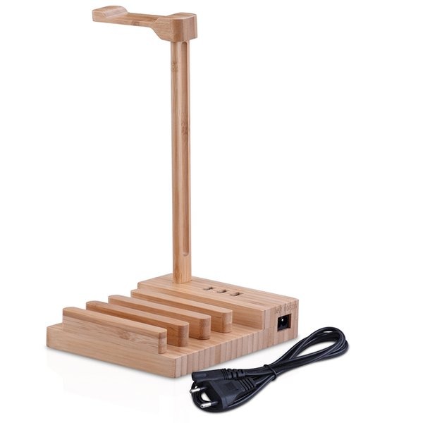 Cheap Accessories 2018 the most fashionable Wooden Headphone Stand Universal Charging Earphone Hanger Holder Earphone Accessories