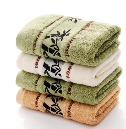 4pcs 100% Bambusfaser Baumwolle weichen, saugfähigen erwachsenen Haushaltstuch Travel Gym Sport Camping Schwimmen Handtuch Gesicht Towl 33x73cm