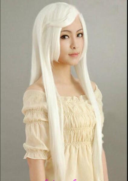 Peruca frete New Cosplay Moda longo branco Inuyasha Saul, possuem COS peruca