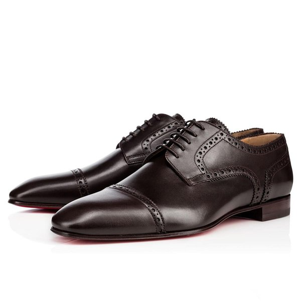 Perfect Genuine Leather Casanono Men's Red Bottom Leisure Brand Designer Women's Luxurious Lace-up Party Dress Wedding Flats With Box