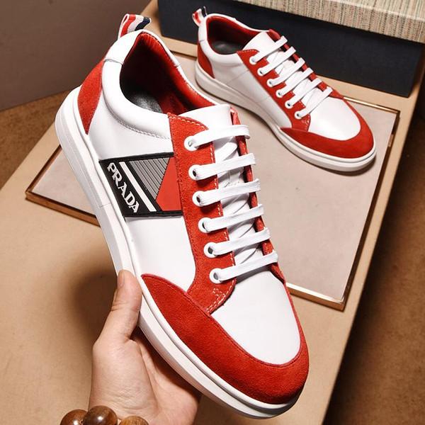 2019 nuevo diseño de marca para hombre zapatos de cuero de encaje para hombre zapatos casuales de alta calidad para hombre zapatos deportivos caja tamaño 38-44 qe