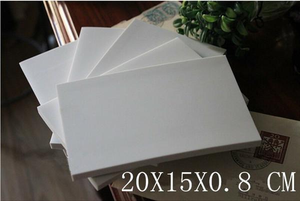 20x15cm goma blanca Talla Sellos de goma Bloques de bricolaje para los profesionales de talla