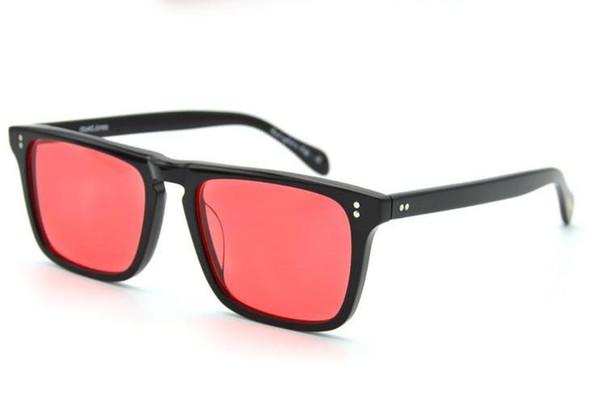 moldura preta lente vermelha